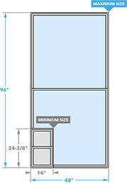 size chart single hung window